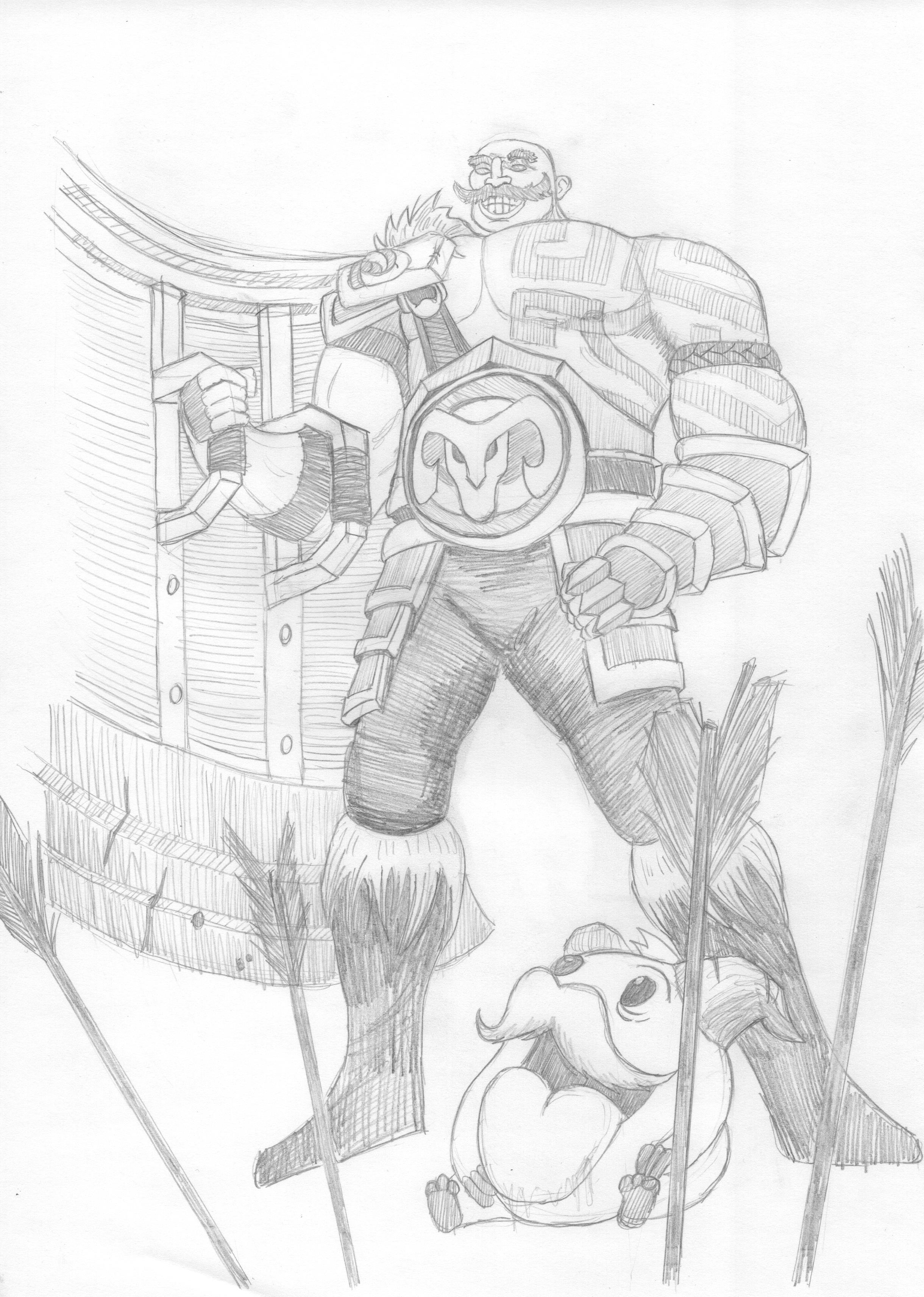 League Of Legends Braum Sketch By Grevelus On Deviantart Made us laugh countless times. league of legends braum sketch by