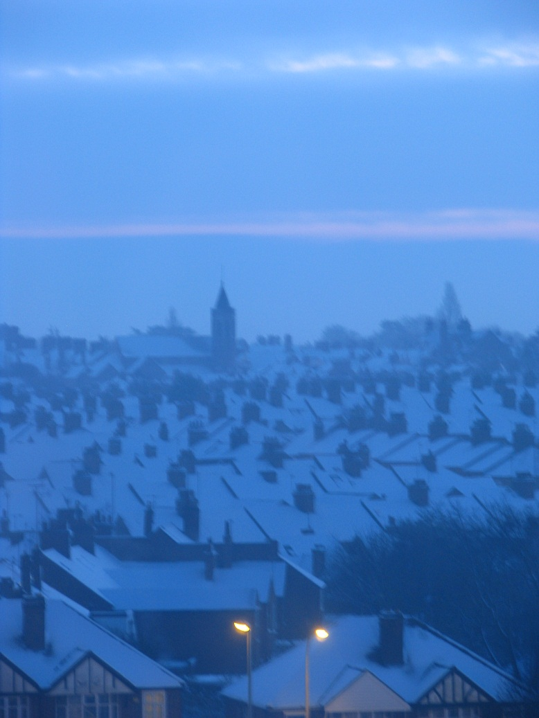 Dawn, a snowy morning by Nuuhku87