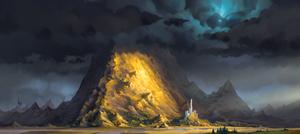 some classic fantasy landscape