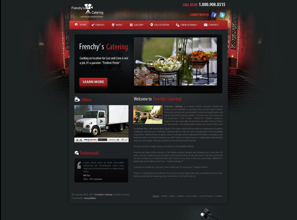 movie catering web template by crazeeartist on deviantart