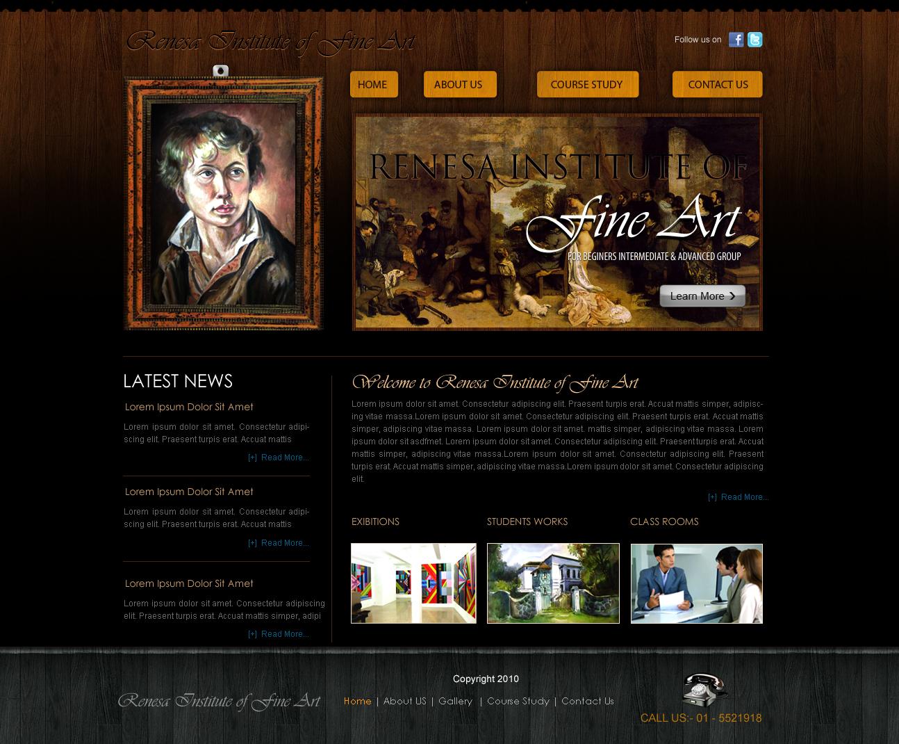 fine art web template by crazeeartist on deviantart
