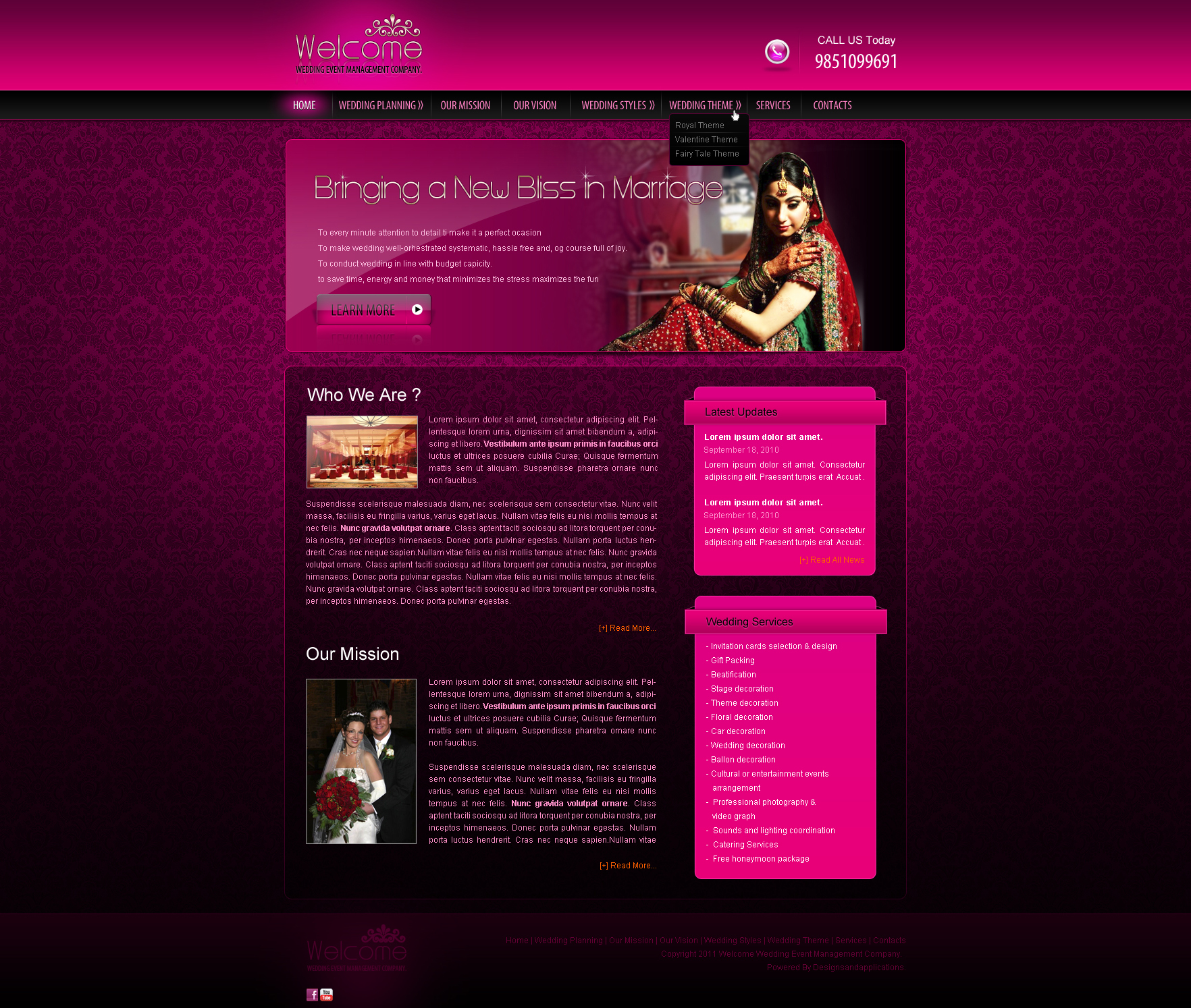 wedding event management web template by crazeeartist on deviantart. Black Bedroom Furniture Sets. Home Design Ideas