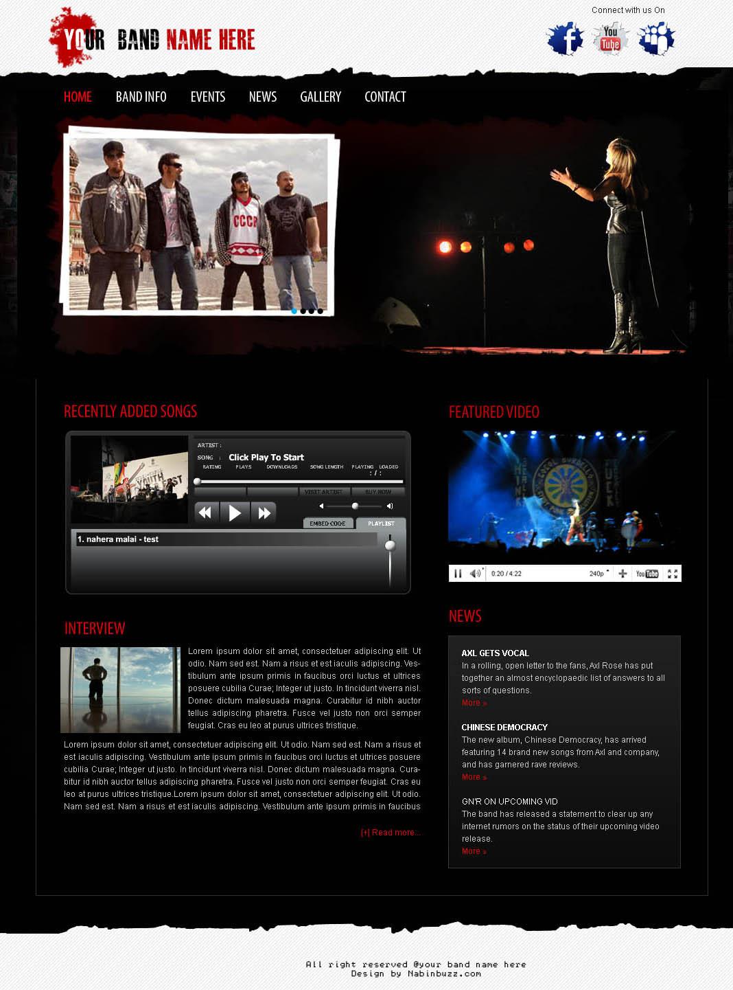 Fantastisch Kostenlose Band Website Vorlagen Bilder - Entry Level ...