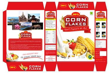 Corn Flakes Packaging Design by crazeeartist