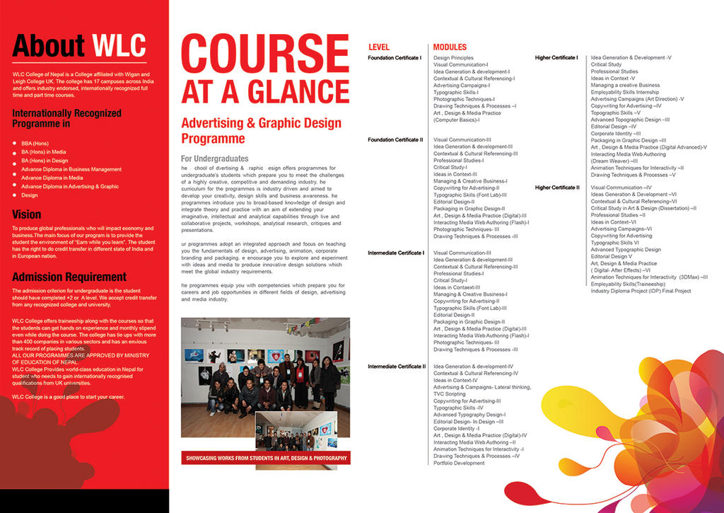 Wlc College Brochure Inside By Crazeeartist On Deviantart