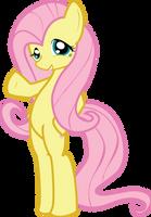 MLP FiM: Fluttershy saying hi by Hoodie-Stalker