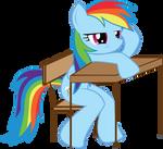 MLP FiM: Rainbow Dash in school