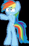 MLP FiM: Amused Rainbow Dash