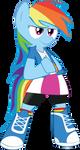 MLP FiM: Rainbow Dash in EQG clothes