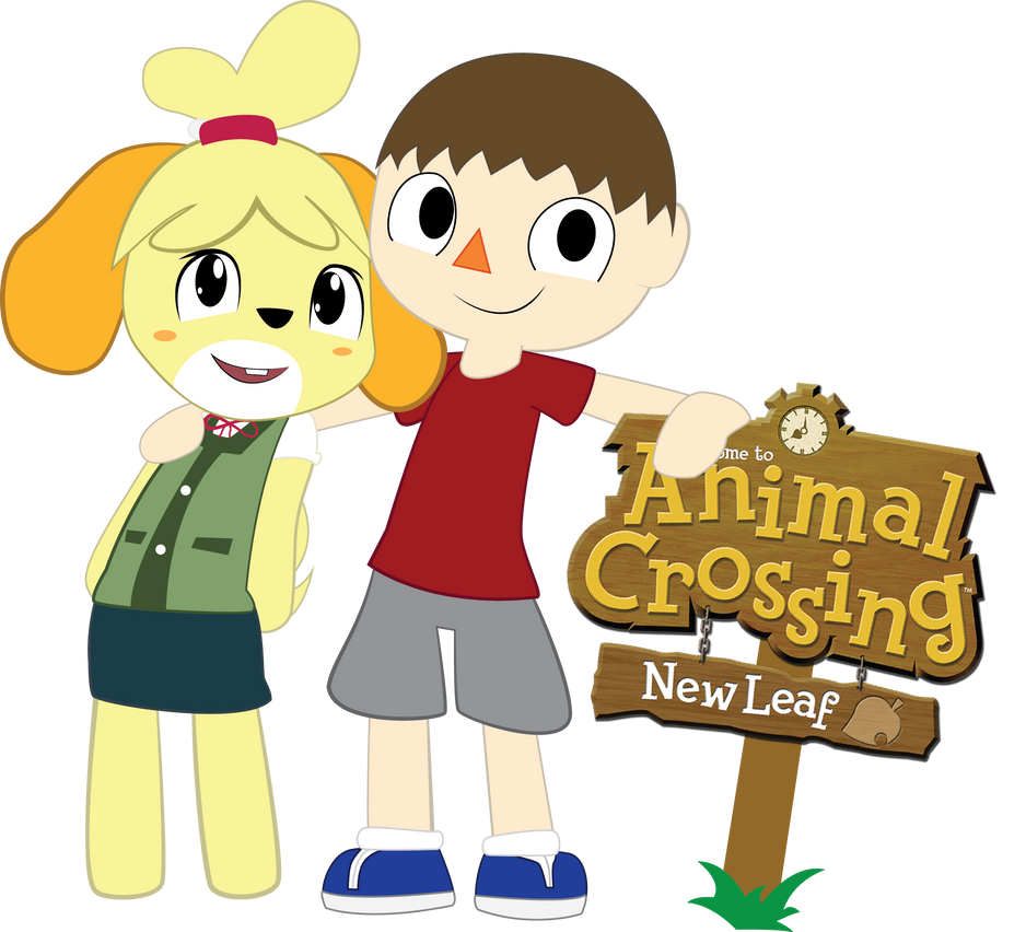 Animal Crossing: New Leaf - Villager and Isabelle by Hoodie-Stalker