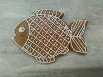 Gingerbread carp by LadyMalande