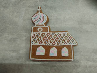 Gingerbread church by LadyMalande