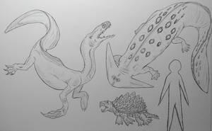 Monster Island Expanded: Swamp predators by Trendorman