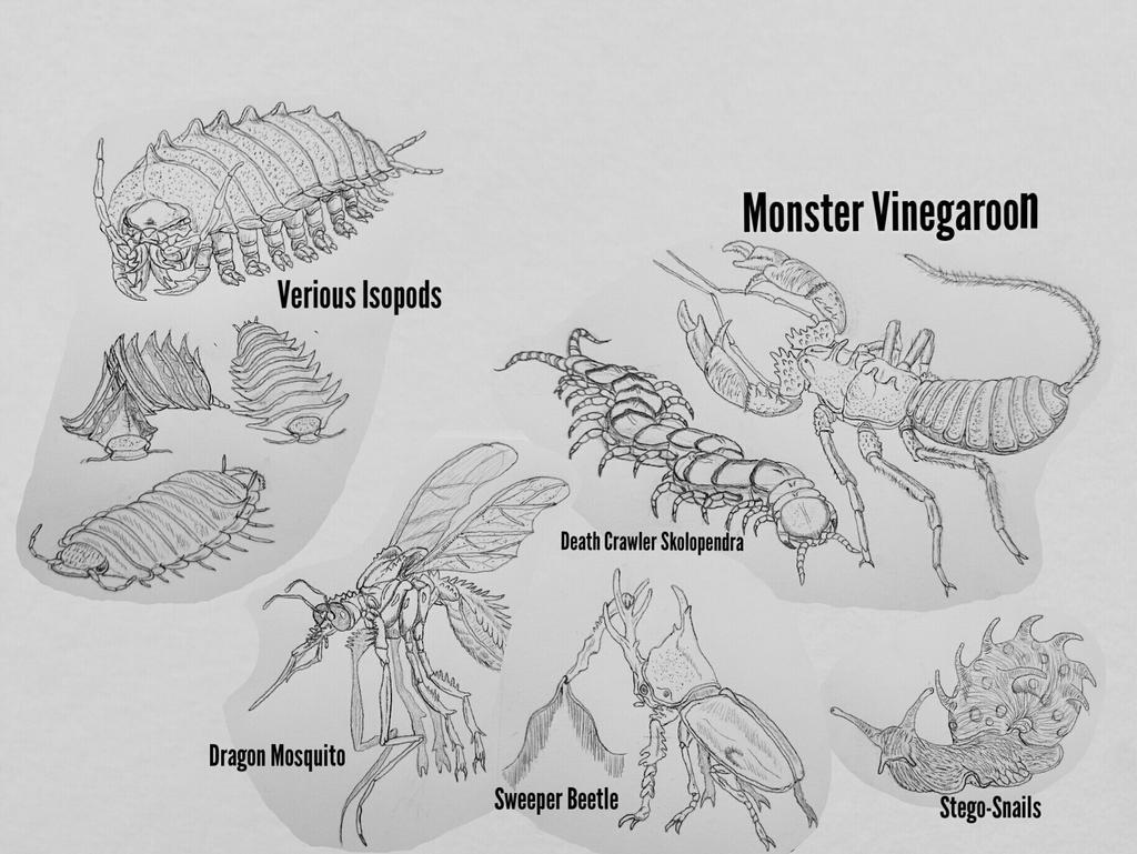 MonsterIslandExpanded: Invertebrates 1 by Trendorman