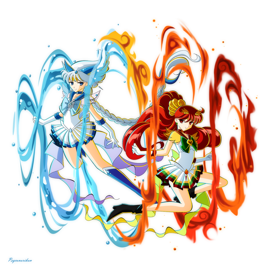 +Sailor Lugia and Ho-oh+ by Psyconorikan