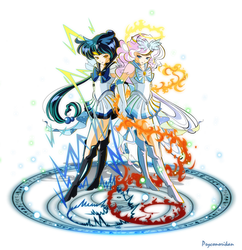 +Sailor Zekrom and Reshiram+