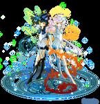 +Sailor Zekrom and Reshiram+