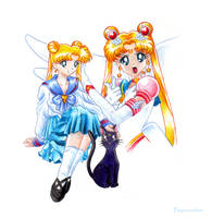 Sailor Moon the heroine by Psyconorikan