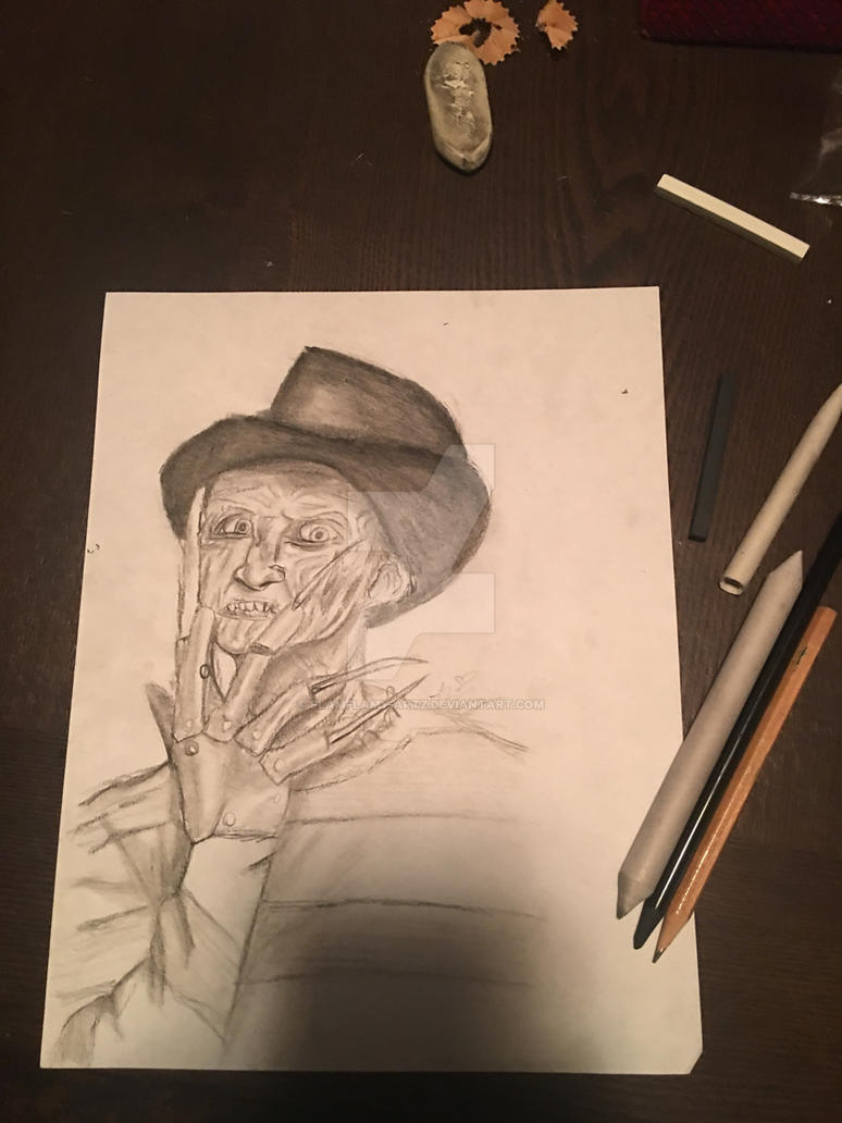 Freddy Krueger charcoal ( FlamFlamy) by flamflamy-artz