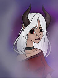Horned elf OC from youtube channel  by flamflamy-artz
