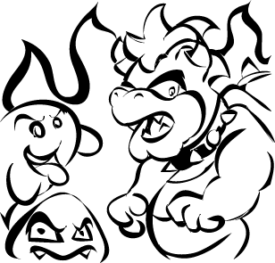 Bowser, Goomba and Boo Too by GBASP05