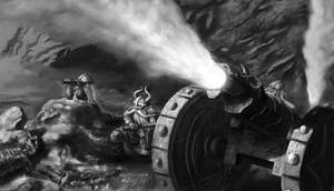 Dwarven Cannon by Spivak000