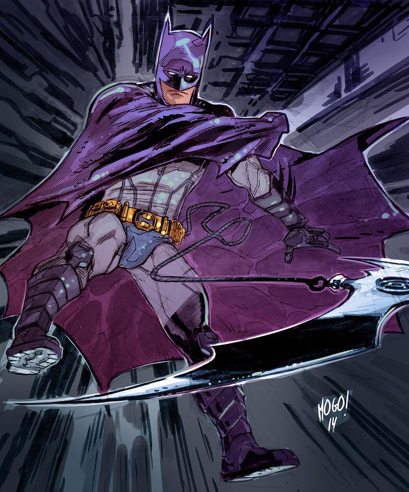Batman sketching by Mogorron