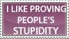 Stupidity Stamp