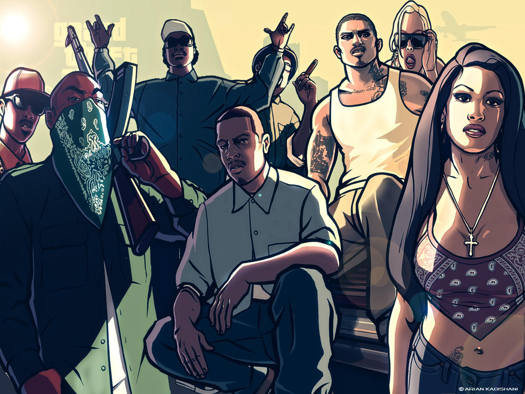 Grand Theft Auto San Andreas Wallpaper By Albanianplayer On Deviantart
