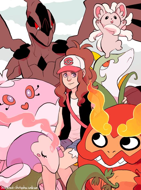 Pokemon Girls: Hilda by Kirokokori