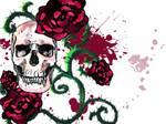 skull+roses