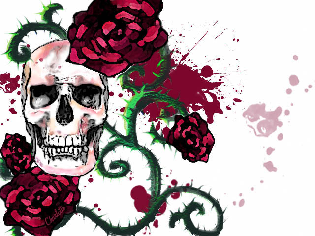 Skullroses By Ingridcharlotte On Deviantart