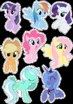 Pocket Pony Cutouts