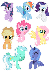 Pocket Pony Cutouts by OceanBreezeBrony