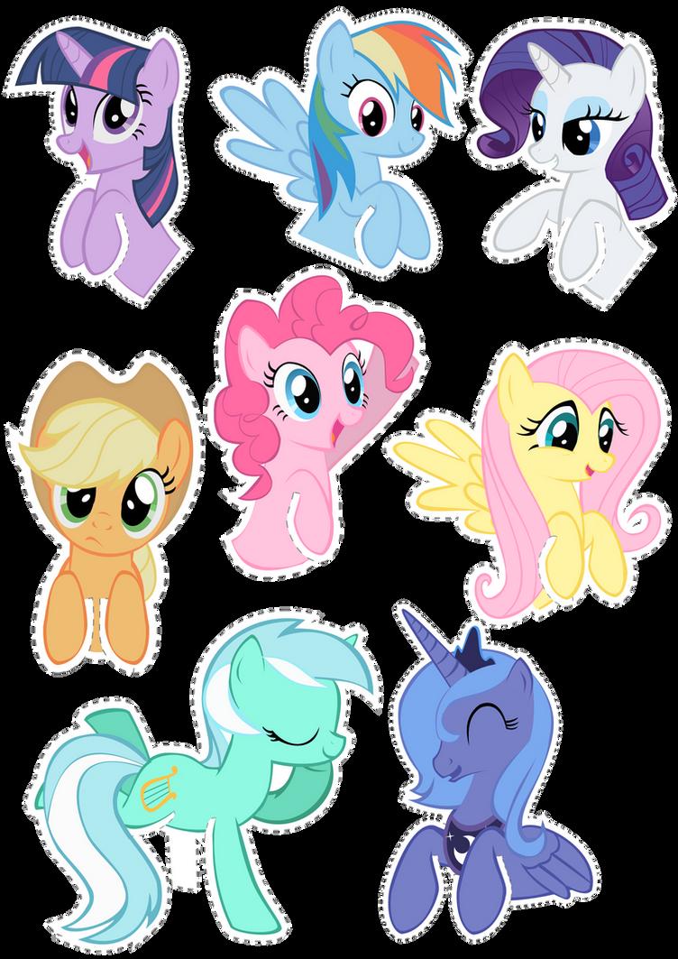 Pocket Pony Cutouts by OceanBreezeBrony