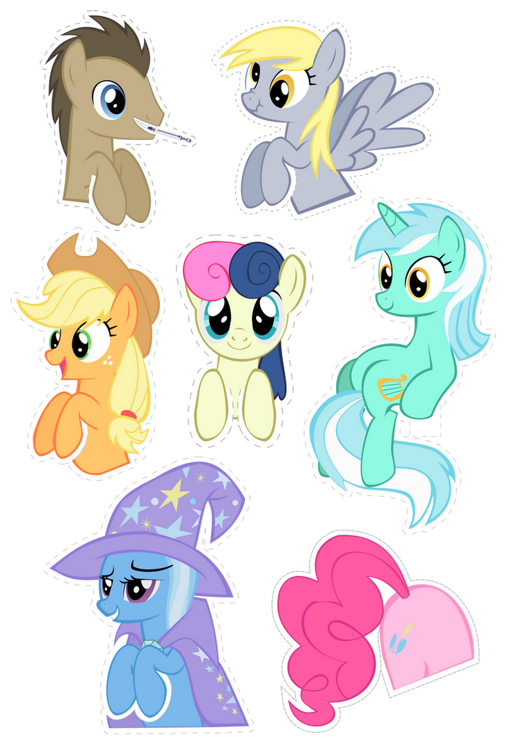 Pocket Pony Cutouts PART TWO by OceanBreezeBrony
