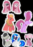 Pocket Pony Cutouts PART THREE by OceanBreezeBrony