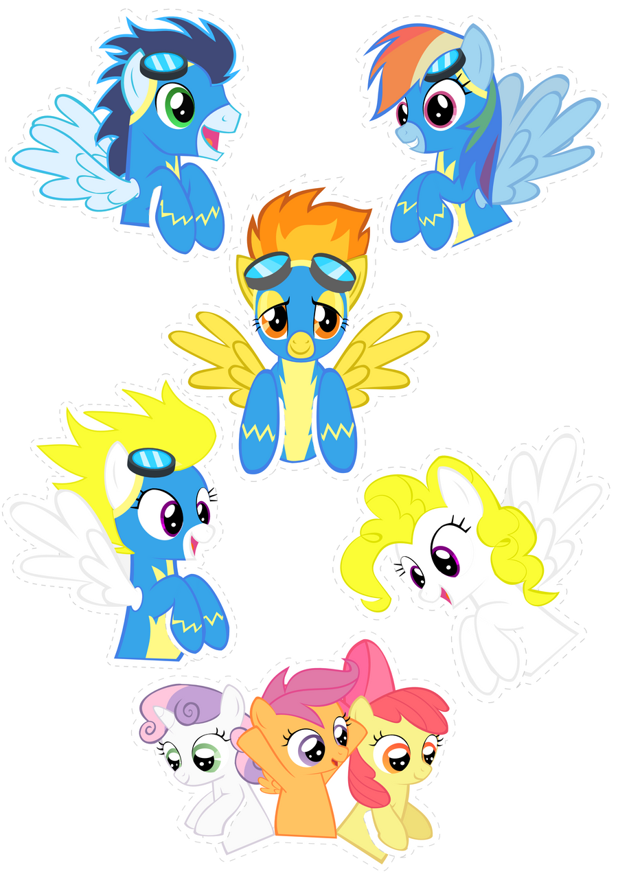 Pocket Pony: WONDERBOLTS by OceanBreezeBrony