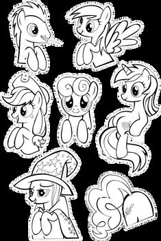 Pocket Pony Coloring Sheet II