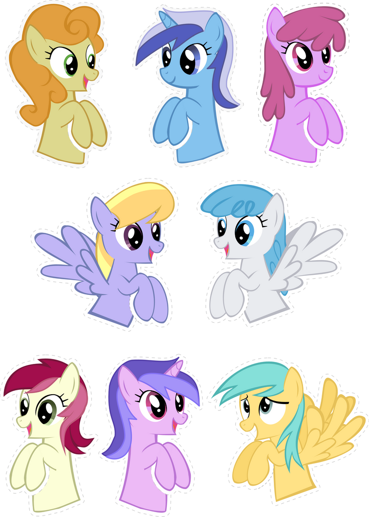 Pocket Pony Background Edition by OceanBreezeBrony