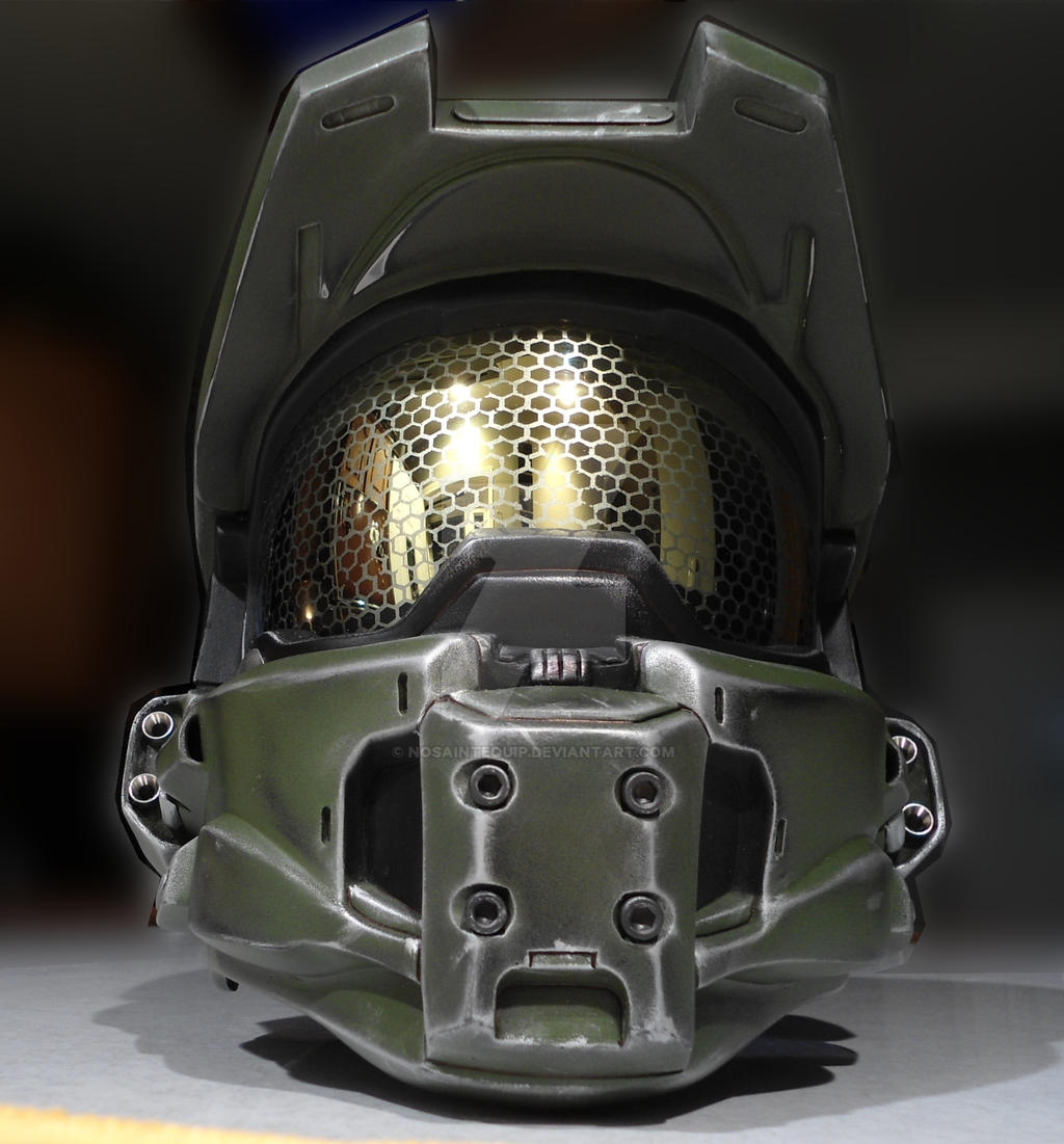 Halo 4 Master Chief Helmet By Nosaintequip On Deviantart