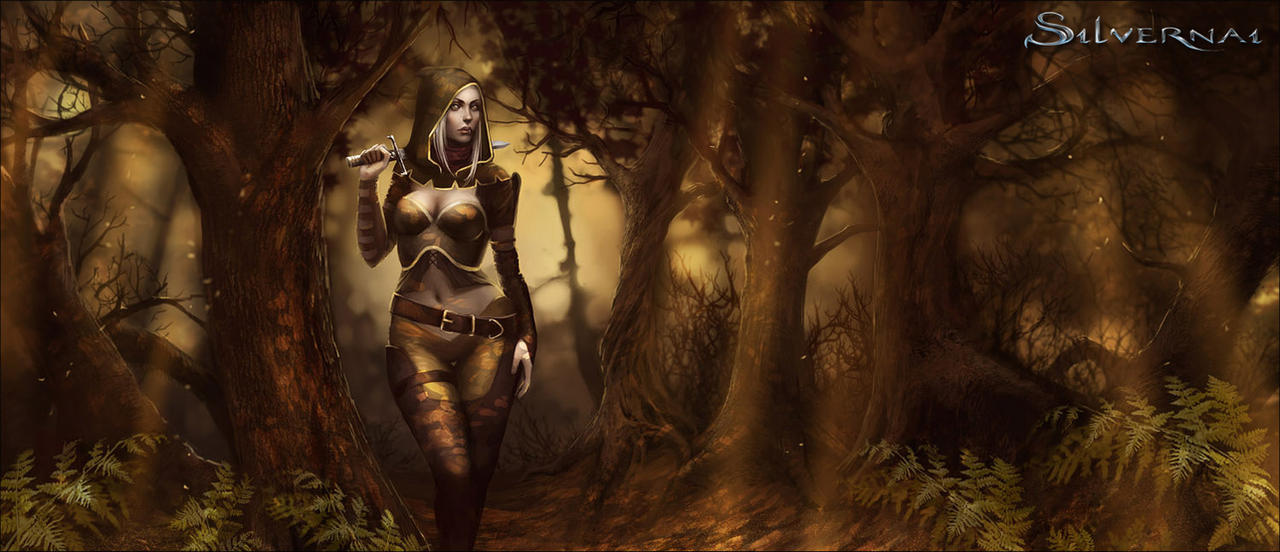 Silvernai: Ivne in Forest by telthona