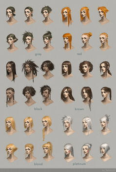 Hairstyle concept art