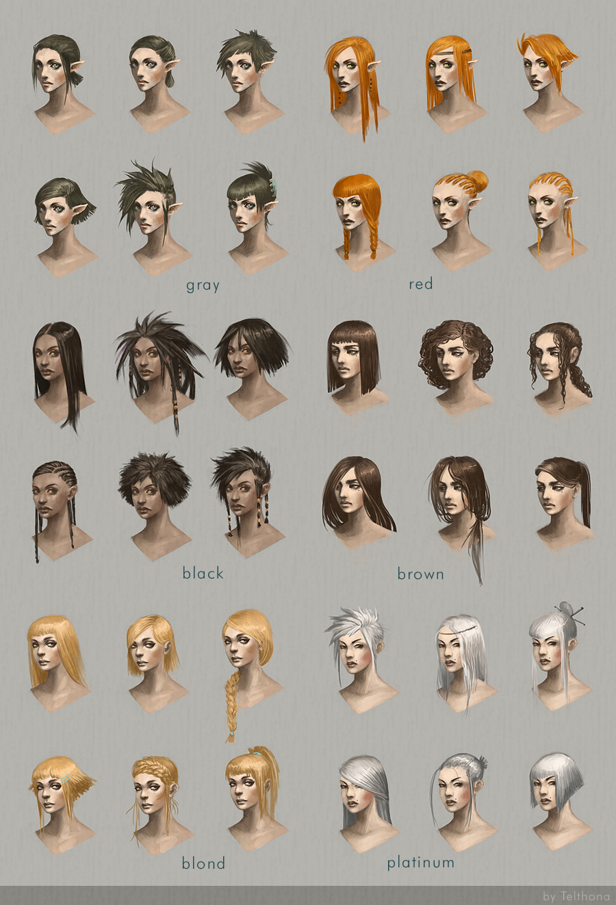 Eyes, Lips, and Hairstyle Charts favourites by MajesticReaper on ...
