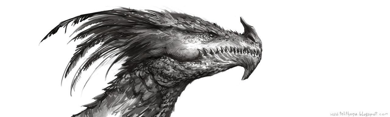 Dragon head by telthona