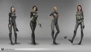 Sci-fi armor design by telthona
