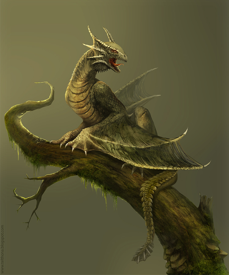 Amfisbena: Forest Dragon by telthona