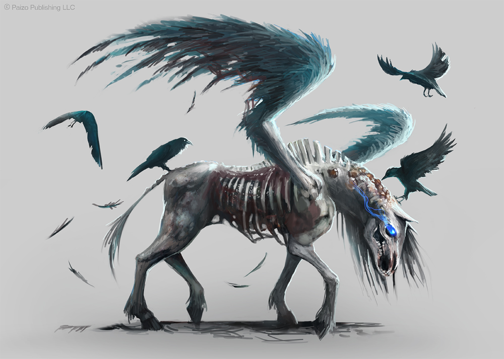 Pathfinder: Pegasus Zombie by telthona on DeviantArt