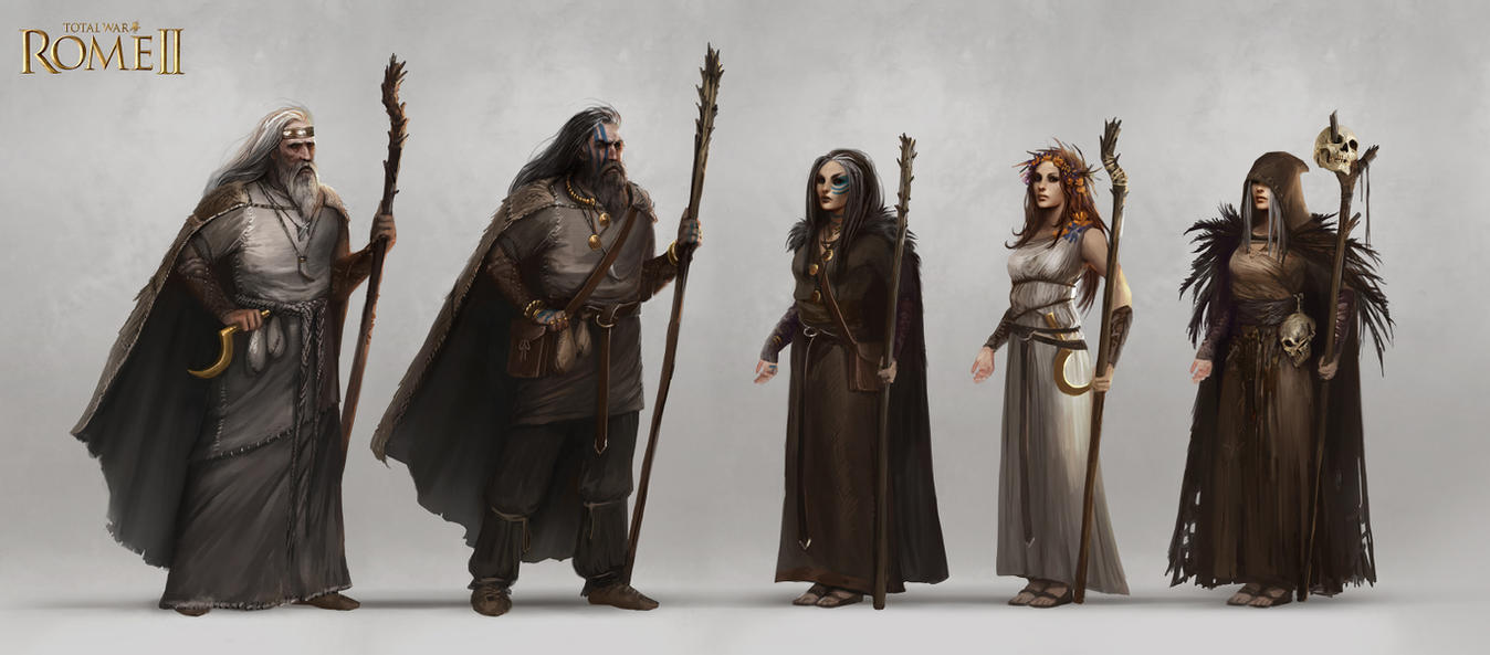 Total War: Rome II - Barbarian Agents Concept Art by telthona
