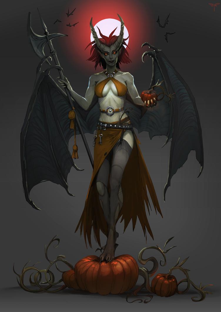 Halloween Succubus by telthona